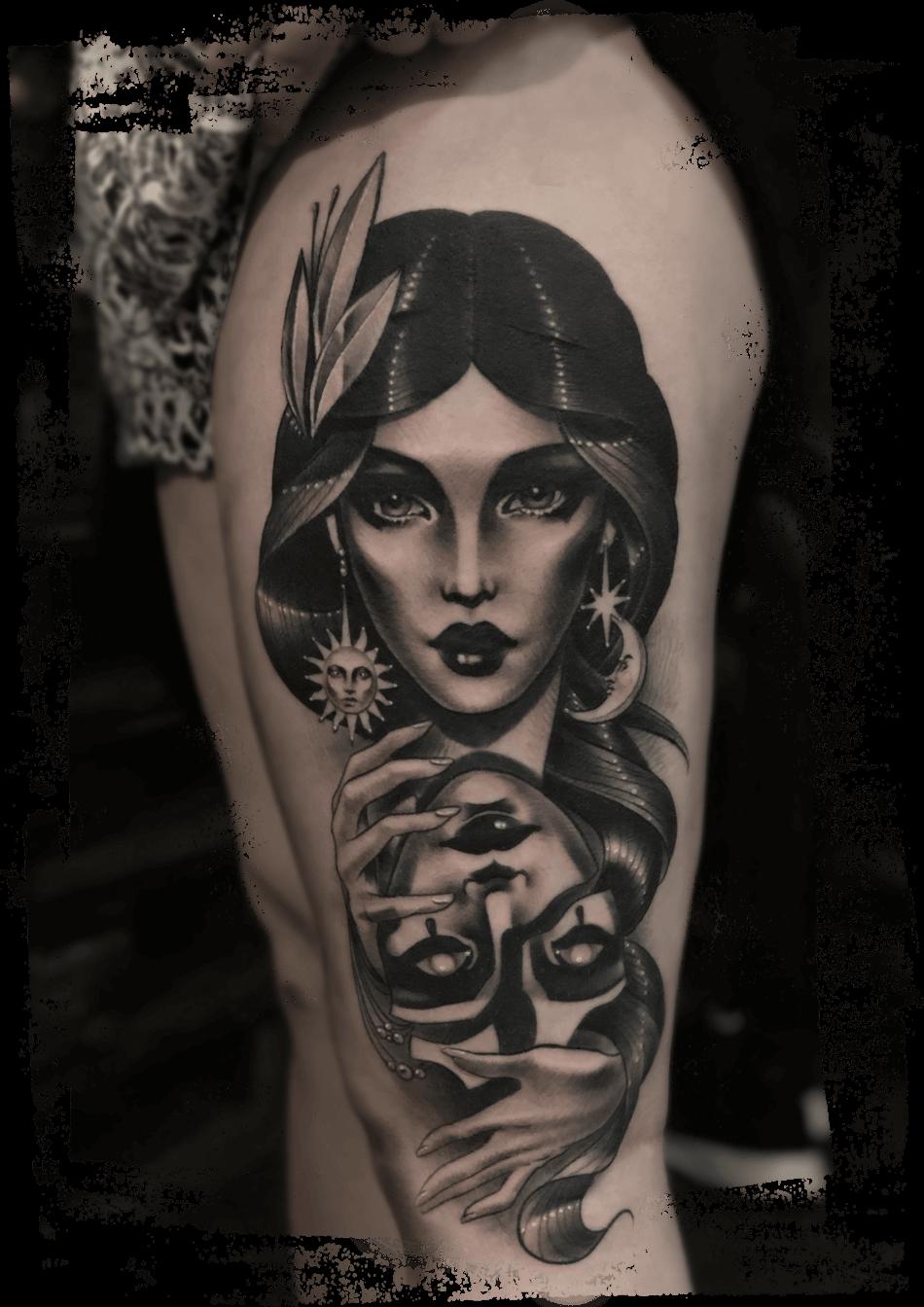 Artwork Tatoo tatuointiliike Helsinki realismi tatuointityyli naisen tatuointi